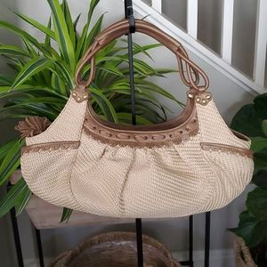 Cole Haan Bronze Straw Bag